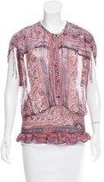 Isabel Marant Paisley Print Silk Top