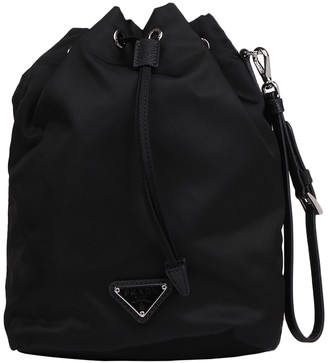 Prada Logo Bucket Bag