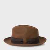 Paul Smith Men's Chocolate Brown Wool Felt Fedora