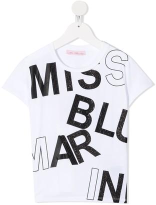 Miss Blumarine logo-print crew-neck T-shirt