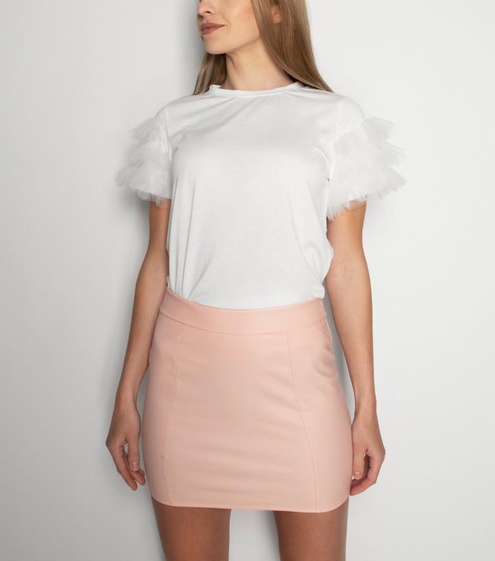 New Look 21st Mill Leather-Look Mini Skirt