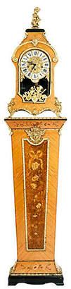 One Kings Lane Vintage Fruitwood Case Tiffany Mantel Clock - La Maison Supreme