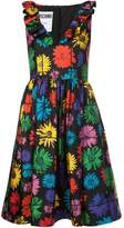 Moschino V-neck floral print dress