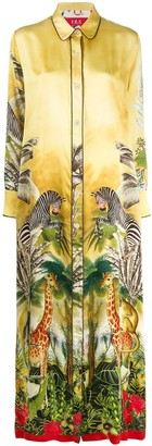 F.R.S For Restless Sleepers Tropical Print Shirt Dress