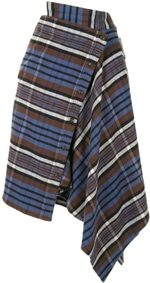 Ground Zero Asymmetric Plaid Skirt