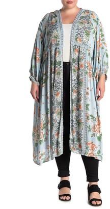 Angie Floral Kimono Duster (Plus Size)