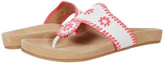 Jack Rogers Jacks Comfort Sandal (White/Neon Pink) Women's Shoes