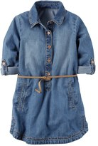 Carter's Girls 4-8 Belted Chambray Shirt Dress