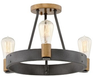 Silas Hinkley Lighting Indoor 3-Light Semi Flush Mount Hinkley Lighting