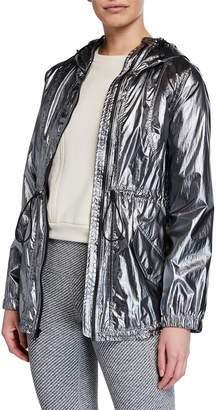 Cushnie Ophilie Hooded Zip-Front Anorak Jacket