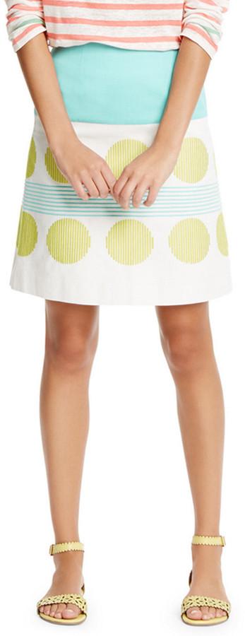 Boden Lara Embroidered Skirt