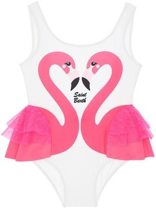 MC2 Saint Barth Flamingo Print One Piece Swimsuit