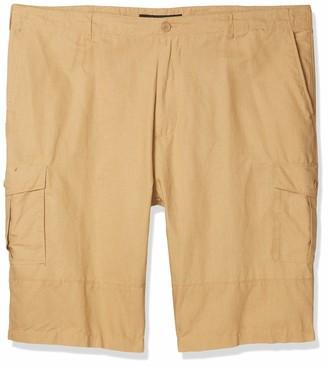 Sean John Men's Big & Tall Solid Linen Cargo Shorts