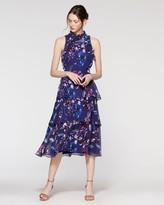 Vince Camuto Chiffon Tiered Midi Dress