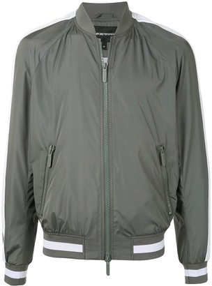 Emporio Armani Side Stripe Detail Fitted Bomber Jacket