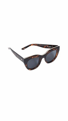 Le Specs Women's Air Heart Sunglasses Brown One Size
