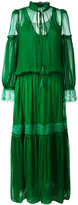 Roberto Cavalli pleated long dress - women - Silk/Polyamide - 40
