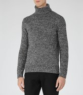 Reiss Reiss Ziggy - Flecked Rollneck Jumper In Grey, Mens