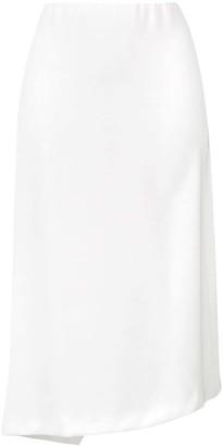 Poiret Asymmetric Midi Skirt