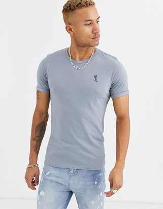 Religion crew neck t-shirt in grey