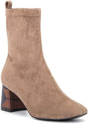 OLIVIA MILLER Unbreak My Heart Patterned Block Heel Boot