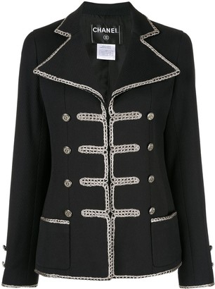 Chanel Pre Owned Long Sleeve Military jacket