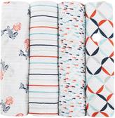 Aden Anais 47'' x 47'' Fish Pond Swaddle Blanket - Set of Four