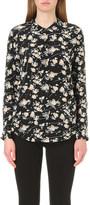 The Kooples Floral-print silk shirt