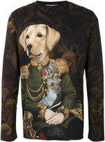Dolce & Gabbana dog soldier print top