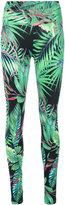 Ermanno Scervino palm printed leggings - women - Polyamide/Spandex/Elastane - M