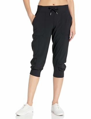 Calvin Klein Women's Premium Performance Rib Cuffed Capri Pant (Standard and Plus)