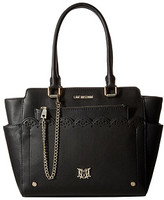 Love Moschino Eyelets Removable Clutch Tote