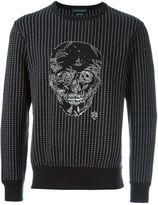 Alexander McQueen stitched skull sweatshirt - men - Cotton/Polyester - S