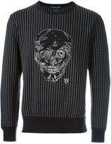 Alexander McQueen stitched skull sweatshirt