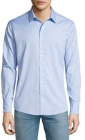 Zachary Prell Palm Tree-Print Jacquard Sport Shirt, Light Blue