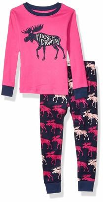 Hatley Little Blue House Girl's Long Sleeve Applique Pyjama Sets