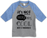 Urban Smalls Heather Gray & Blue 'Being Cool' Raglan Tee - Toddler & Boys