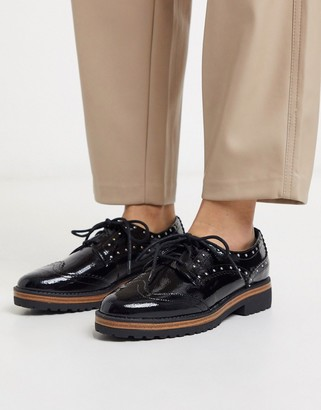 Call it SPRING cavotti chunky sole brogues in black