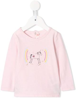 Billieblush Unicorn Rainbow Long-Sleeve Top