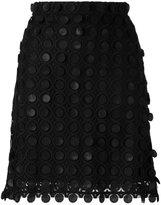 Carven geometric design A-line skirt