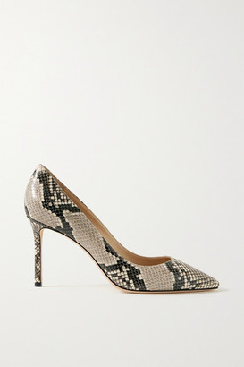 Jimmy Choo Romy 85 Snake-print Leather Pumps - Snake print