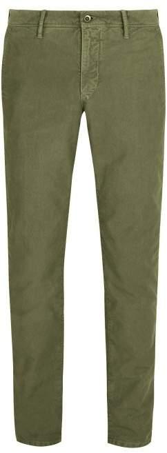 Incotex Slim Leg Cotton Chino Trousers - Mens - Green