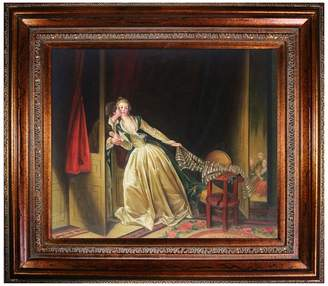 The Stolen Kiss, late 1780s - Framed Oil Reproduction of an Original Painting by Jean-Honore Fragonard