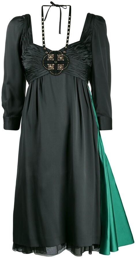 Prada Pre-Owned Empire Line Layered Dress