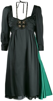 Prada Pre-Owned Empire Line Layered Dress