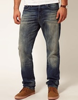 G Star G-Star Jeans 3301 Straight Fit Medium Aged - Blue