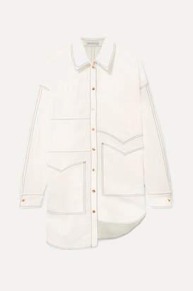REJINA PYO Marley Oversized Asymmetric Poplin Shirt - Off-white
