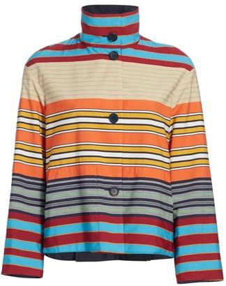 Akris Punto Parasol Striped Jacket