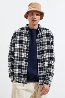 Standard Cloth Vintage Acid Wash Flannel Button-Down Shirt