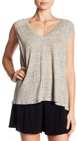 Cupcakes And Cashmere Lola V-Neck Knit Linen Tank Top